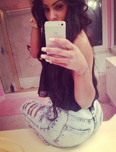 Her pants.!! ^.*