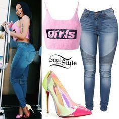 Swag Outfits, Stylish Outfits, Cool Outfits, Fashion Outfits, Nicki Minaj Halloween Costume, Halloween Outfits, Nicki Minaj Outfits, Black Barbie, Cute Fashion
