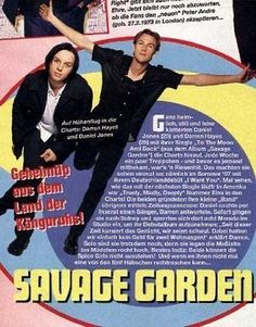 One of my sisters favorite picture SAVAGE GARDEN Logan City, Savage Garden, Number One Hits, Sisters