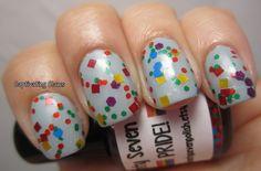 Pride - 15mL glitter nail polish. $7.00, via Etsy.