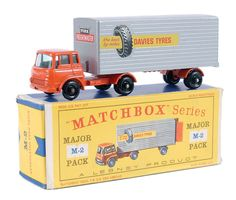 """Matchbox Major Pack No.M2 Bedford Articulated Truck and Trailer """"Davies Tyres"""""""