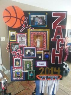 Learn how to Make High School Graduation Party Decor Ideas for your big night! Cheer Posters, Basketball Posters, Soccer Poster, Basketball Pictures, Basketball Mom, Volleyball Senior Gifts, Senior Night Gifts, Senior Day, Softball
