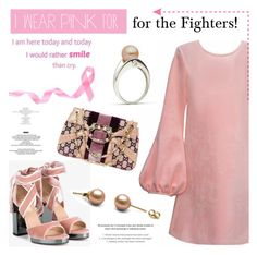 """""""I wear pink for the fighters!"""" by pearlparadise ❤ liked on Polyvore featuring Cynthia Rowley, Valentino, Gucci, StyleNanda, contestentry, pearljewelry, IWearPinkFor and pearlparadise"""