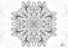 Splash love mandala http://dicebird.com/splash-love-mandala-flower-free-adult-color-pages/