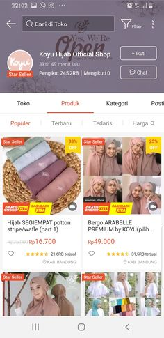Stylish Hijab, Casual Hijab Outfit, Hijab Chic, Stylish Hair, Best Online Clothing Stores, Online Shopping Sites, Online Shop Baju, Shops, Hijab Tutorial