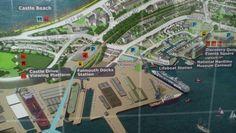 Part of map at Falmouth docks station 2014
