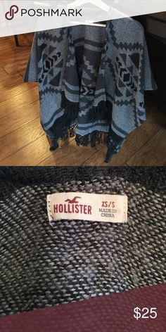1 NIGHT SALE! NWOT Hollister Sweater/Shrug Perfect sweater for the Fall and Winter! Lightweight, open, and stylish. Has arm slits. Fringe on bottom. Size XS/S. oversized. Can fit up to a large or XL. :-) 25% off bundles! Hollister Sweaters Shrugs & Ponchos