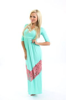 Plus size maternity maxi dress with sleeves