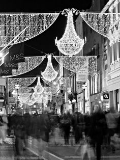 Love it at Christmas time  - Grafton Street - Dublin Photograph  - Barry O Carroll