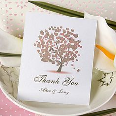 Thank You Card - Heart Tree (Set of 50) – GBP £ 20.87