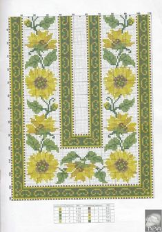 Nadide Umut Ozkan Cross Stitch Borders, Cross Stitch Flowers, Cross Stitch Designs, Cross Stitching, Cross Stitch Embroidery, Embroidery Patterns, Cross Stitch Patterns, Tapete Floral, Chicken Scratch