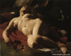 Baccante : Erotic painting by Gustave Courbet.  1819 - 1877