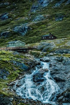 Huts at Trollstigen, Norway