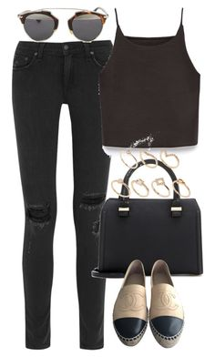 """""""Untitled #3460"""" by plainly-marie ❤ liked on Polyvore featuring moda, rag & bone, Victoria Beckham, Chanel, Zara, Christian Dior i ALDO"""