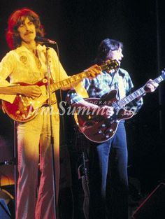 George Harrison with Robben Ford during his Dark HOrse Tour in 1974