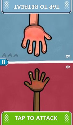 "Red Hands – 2-Player Games is based on a game for kids known as ""hot hands"", ""slaps"" or even in some countries ""slap jack""."