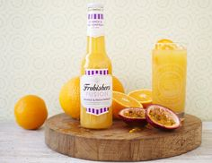 Orange & Passionfruit Fusion - A dash of white grape juice and a splash of water add a unique twist to this natural fusion of orange and passionfruit juices. Grape Juice, Fruit Juice, Personal Hygiene, Juice Flavors, Variety Of Fruits, Juice Drinks, Pure Products, Unique, Juices