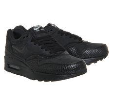 Nike Air Max 1 (l) Black Black Croc - Hers trainers