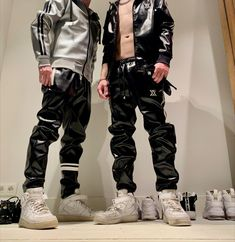 Tracksuit Pants, Nike Af1, Second Life, Leather Men, Parachute Pants, Streetwear, Swag, Photo Wall, Sneakers Nike