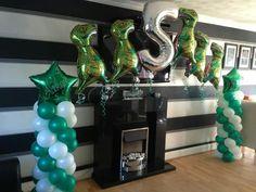 Dinosaur Balloon column www.bellissimoballoons.co.uk