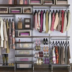 20 ways to organize your bedroom closet.