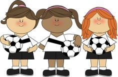 cute clip art ~ Girl Soccer Players