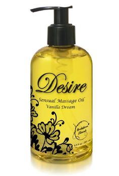 Desire Sensual Massage Oil - Best Massage Oil for Couples Massage - Perfect Gift for Her - All Natural - Contains Sweet Almond, Grapeseed & Jojoba Oil for Smooth Skin 8.5oz