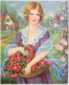 007-Girl with roses (56 pieces)