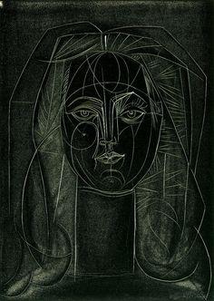 """Pablo Picasso, """"Portrait de Françoise Gilot"""", 1946"""
