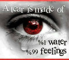 Emotions---scientists have determined that tears from sadness and tears of happiness are chemically different from each other