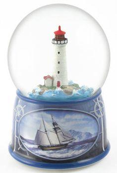 Lighthouse Musical Revolving Waterglobe