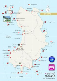 Arrival Thailand Koh Tao map by Arrival Thailand - issuu