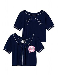 PINK New York Yankees Sequin Crop Baseball Top #VictoriasSecret http://www.victoriassecret.com/pink/new-york-yankees/new-york-yankees-sequin-crop-baseball-top-pink?ProductID=109312=OLS?cm_mmc=pinterest-_-product-_-x-_-x