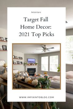 NC Blogger I'm Fixin' To shares her 2021 top picks for Target fall home decor, with most being under $50. Check it out!
