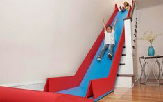 SlideRider Folding Mats Turn Stairs Into A Slide