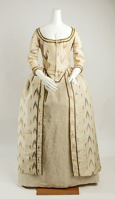 1775 British Silk Robe à la Polonaise