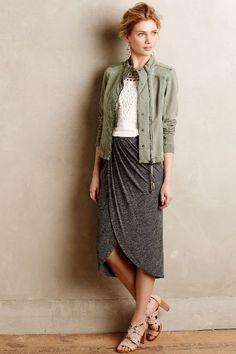 Maleo Draped Skirt - anthropologie.com
