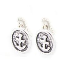 Oval Anchor Sterling silver Earrings