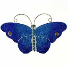 Sterling Enamel Butterfly Pin