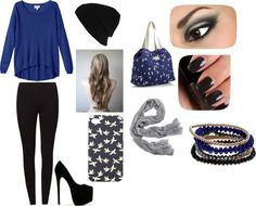 """""""blue!!!!!:)"""" by espartogirl ❤ liked on Polyvore"""