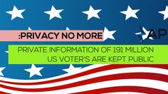 Privacy No More: Private Information of 191 Million US Voter's Are Kept Public Public Security, How To Get, News, Internet, Awesome, Check, Blog, Blogging