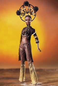 Moja™ Barbie® Doll - Byron Lars makes the most gorgeous Black Barbies in the world. I want them ALL.