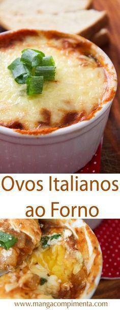 Receita de Ovos Italianos ao Forno – uma verdadeira delícia para o café da manhã. #receita #culinária #comida #ovos #cafédamanhã
