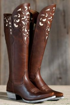Women's Ariat Hacienda Leather Boots By Overland Sheepskin Co, http://www.overland.com/Products/PID-58025.aspx?WT.srch=1  Gorgeous, these puppies would look great with jeans, leggings, and dresses!