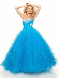 Sweetheart Ruffled Ball Gown Mori Lee Prom Dress 93037|DressProm.net was going to be my prom dress buut not too sure now