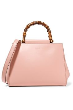 Pink leather (Calf) Open top Designer color: Perfect Pink Comes with dust bag This style is made with natural bamboo and as such may have small indentations Weighs approximately 2.9lbs/ 1.3kg Made in Italy