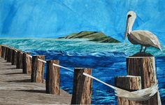 silver linings quilting pattern pelican at the pier