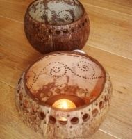 Large Coconut Shell T Light - £7.65