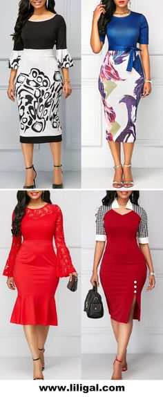 5 Dress Styles That Will Make You Look Thinner African Attire, African Wear, African Fashion Dresses, African Dress, Fashion Outfits, Dress Outfits, Elegant Dresses, Beautiful Dresses, Casual Dresses