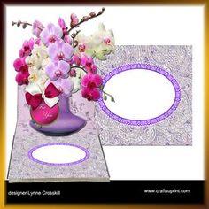 View Orchids Vase Easel Card & Envelope Details
